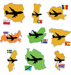 fly me to the Romania Russia South Africa South Ko vector image vector image