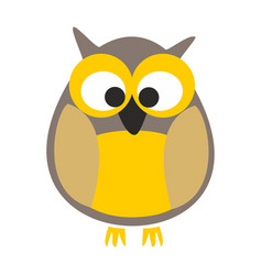 owl isolated on white background vector image vector image