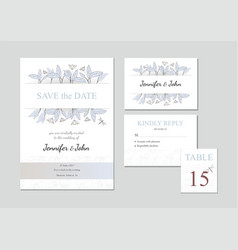 set of four templates with floral ornament vector image vector image