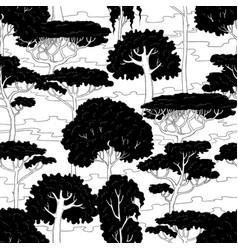 sketch seamless pattern of vector image vector image