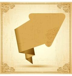 Vintage origami arrow Background vector image vector image