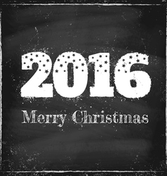 2016 chalk merry christmas vector image