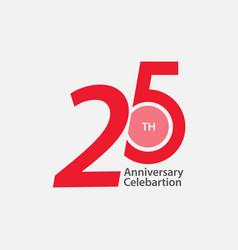 25 th anniversary celebration template design vector