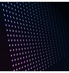 Abstract blue color neon dots dotted technology vector image
