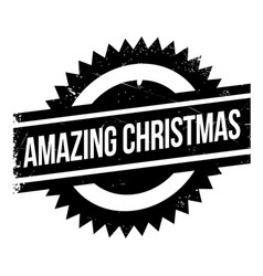 amazing christmas rubber stamp vector image