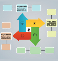 arrow tabs for business ideas vector image
