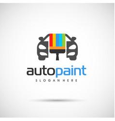 Auto paint logo vector