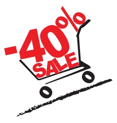 Big sale 40 percentage discount 2 vector image