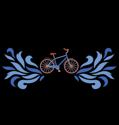 Bike embroidery pattern vector