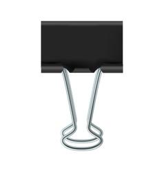 Black binder clip icon vector