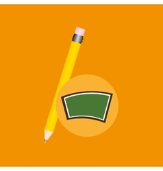 Blackboard school icon pencil vector