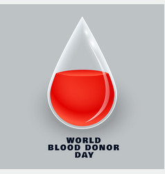 blood donor day concept design vector image