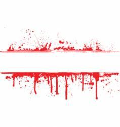 Blood splat border vector