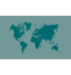 Blue halftone political world map vector
