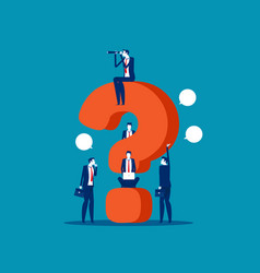 business team asking questions around question vector image