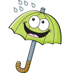 Cartoon umbrella vector image