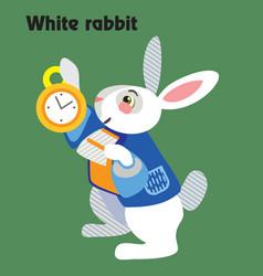 cartoon white rabbit vector image