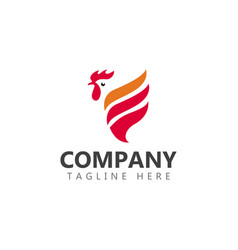 Chicken company logo template design vector