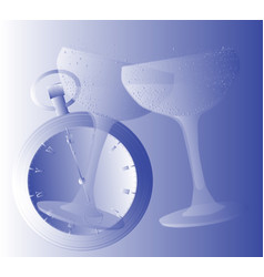clinking glasses vector image