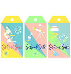 collection of funny tags back to school vector image