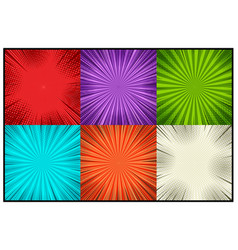 comic colorful explosive backgrounds vector image