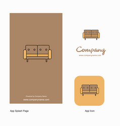 couch company logo app icon and splash page vector image