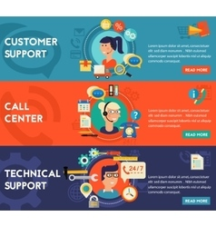 Customer and Technical Support Call Center vector