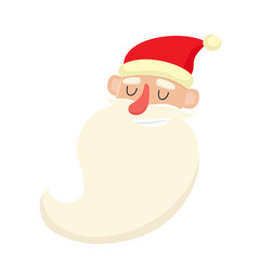 cute santa claus smiling facial expression vector image