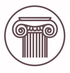 decorative element architecture column vector image