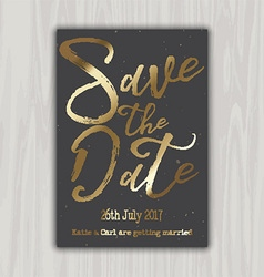 Decorative save the date invitation 1309 vector