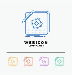 design app logo application design 5 color line vector image