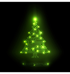 digital christmas tree vector image