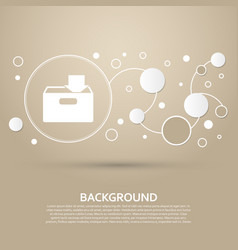 Download to hdd icon on a brown background with vector