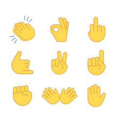 Emoji hand applause emoticon thumb clap icon vector
