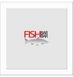 fish bar logo vector image