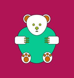 Flat icon design collection teddy bear vector