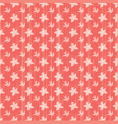 Floral seamless pattern with daffodils plants and vector