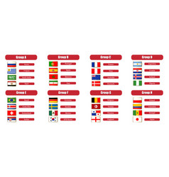 football groups championship flags icons of the vector image