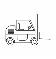 Forklift icon outline style vector image