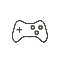 game icon line joypad symbol vector image