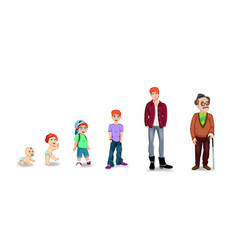 generation of people and stages of growing up vector image