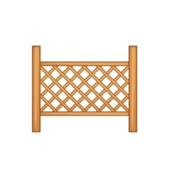 Grid of wooden fence icon cartoon style vector image
