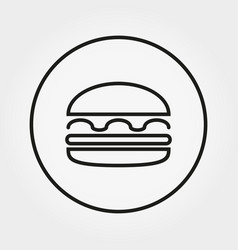 hamburger cheeseburger burger icon vector image