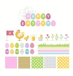 Happy Easter icons vector
