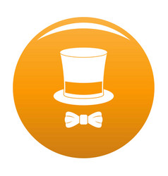 hat with butterfly icon orange vector image