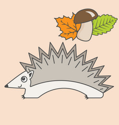 hedgehog cartoon style art for kids vector image