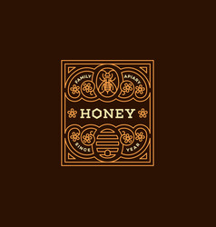Honey label vector