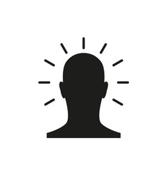 icon mind simple vector image
