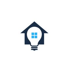idea house logo icon design vector image