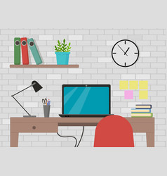 in flat style interior of vector image